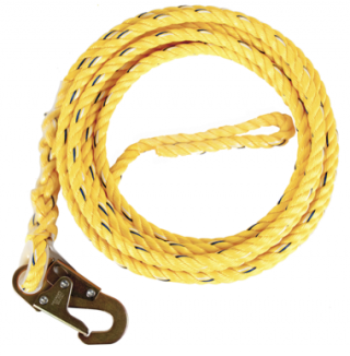 Guardian 5/8 Inch Standard Poly Steel Rope with Snap Hook End