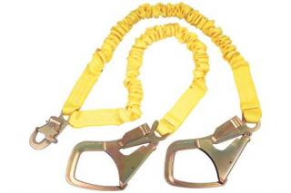 3M DBI Sala ShockWave2 Shock Absorbing Twin Leg Lanyard with Saflok Max Hooks