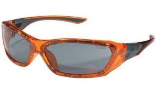 ForceFlex Safety Glasses with Anti-Fog Gray Lens and Trans Orange frame