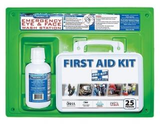 Pac-Kit First Aid Kit & Eye Wash Station - Single 16 oz.
