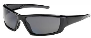 Bouton Sunburst Safety Glasses with Gray Lens and Black Frame