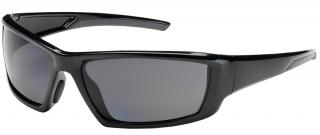 Bouton Sunburst Safety Glasses with Polarized Gray Lens and Black Frame