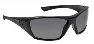 Bolle Hustler Safety Glasses with Smoke Lens and Black Frame