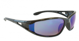 Bolle Safety Lowrider Safety Glasses with Blue Mirror Lens and Black Frame