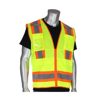 PIP ANSI Class 2 Two Tone 10 Pocket Surveyors Vest