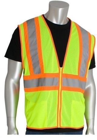 PIP ANSI Class 2 Two Tone Yellow Mesh Vest