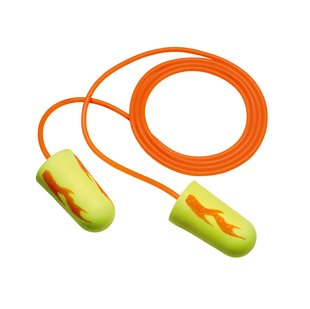3M E-A-R Soft Yellow Neon Blasts Corded Earplugs - 200 Pairs