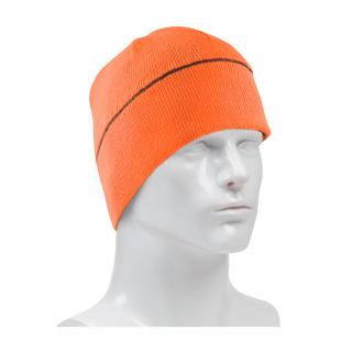 PIP Hi-Viz Orange Winter Beanie Cap with Reflective Stripe