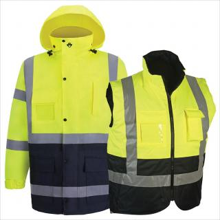 2W Class 3 Parka and Body Warmer - Lime