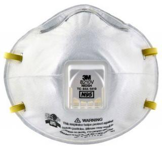 3M Particulate Respirator 8210V, N95 (Box of 10)