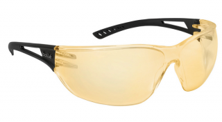 Bolle Slam Safety Glasses with Yellow Lens and Black Temple