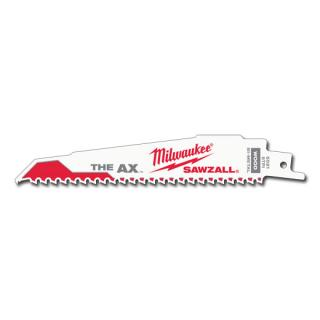 Milwaukee 6 in. 5 TPI The Ax Sawzall Blade - 5 Pack
