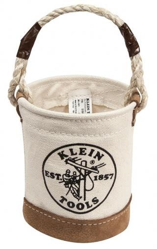 Klein Tools Mini Leather Bottom Bucket