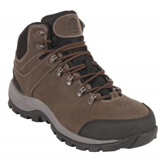 King's Mid-Height Industrial Hiker Work Shoes - Brown