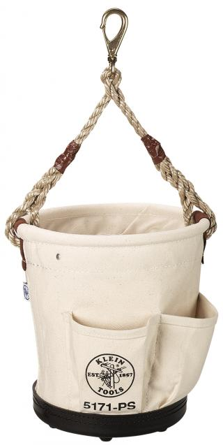 Klein Tools 5171PS Tapered Wall Bucket with 4 Outside Pockets