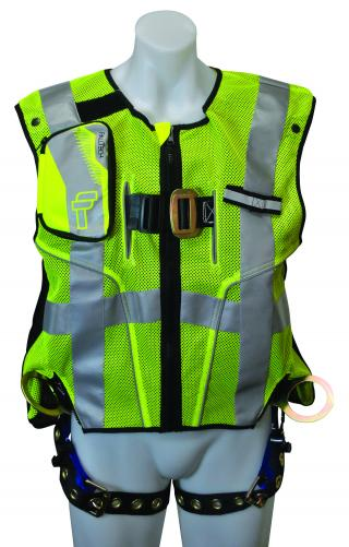 FallTech 7018SML High-Vis Vest Harness