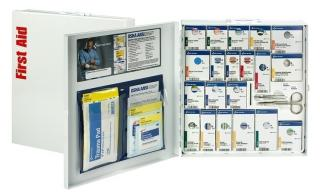First Aid Only 50 Person Metal SmartCompliance First Aid Cabinet with Meds