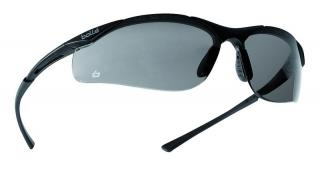Bolle Contour Safety Glasses with Smoke Lens and Dark Gunmetal Frame