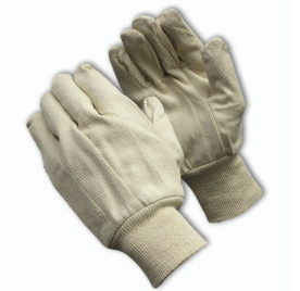 PIP 90-908I Canvas Single Palm Gloves, 12 Pairs