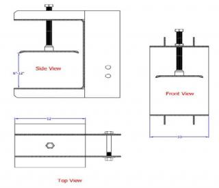 Slab Grabber Bracket ( 6 to 12 Inch Slab)