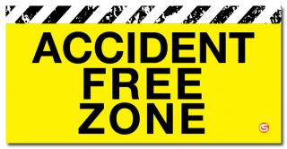Accident Free Zone' Motivational Workplace Banner