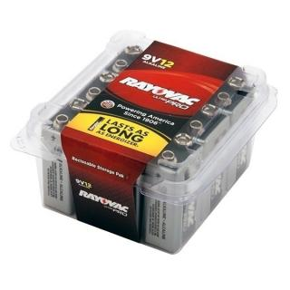 Rayovac Alkaline 9V Batteries - 12 Pack