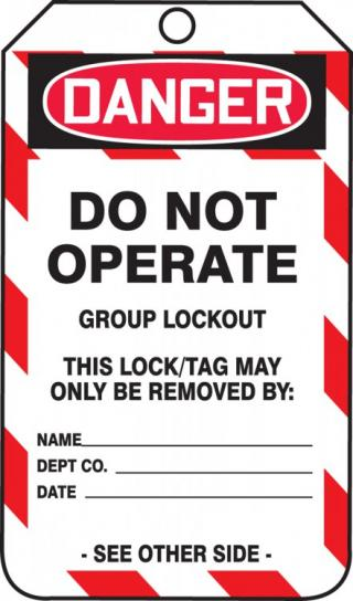 Accuform Group Lockout Job Tags (5 Pack)