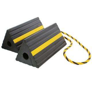 ABN Rubber Wheel Chock with Rope