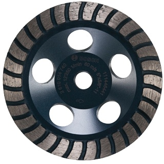 Bosch 5 Inch Turbo Row Diamond Cup Wheel for Finishing