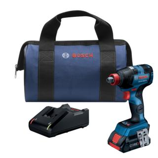 Bosch 18V EC Brushless Connected-Ready Freak 1/4 Inch and 1/2 Inch Two-In-One Bit/Socket Impact Driver Kit