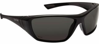Bolle Hustler Safety Glasses with Polarized Lens and Black Frame