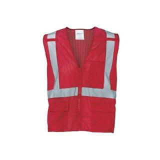 Ironwear 1284-RZ-RD Red Mesh Multi-Pocket Reflective Vest
