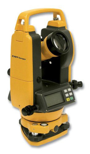CST/Berger 5 Inch Digital Theodolite Transit with Vertical Tilt Sensor