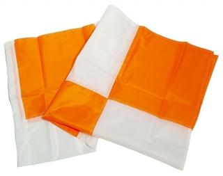 Dicke Safety 36 Inch White/Orange Airport Flag