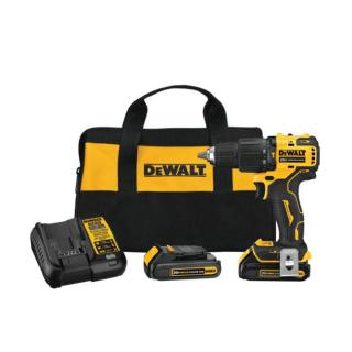 DeWALT Atomic 20V Max Brushless Compact Cordless 1/2 Inch Hammer Drill/Driver Kit