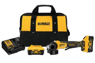 DeWalt 20V MAX XR 4.5 Inch Paddle Switch Small Angle Grinder Kit with Kickback Brake