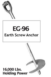 Galvanized Steel 96 Inch Earth Screw Anchor