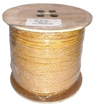 Erin Rope 3/8 Inch 3 Strand Yellow Polypropylene Rope - 600 Feet