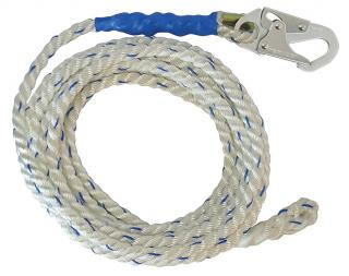 FallTech 3-Strand Vertical Lifeline with Snap Hook and Braided End