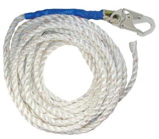 FallTech 3-Strand Vertical Lifeline with Snap Hook and Taped End