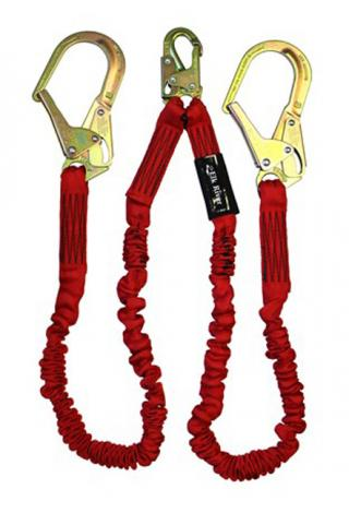 Elk River FLEX-NoPac Twin Leg Lanyard with Steel Rebar Hooks