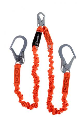 SafeWaze V-Line 6 Foot Dual-Leg Low-Profile Lanyard with Pelican Hooks