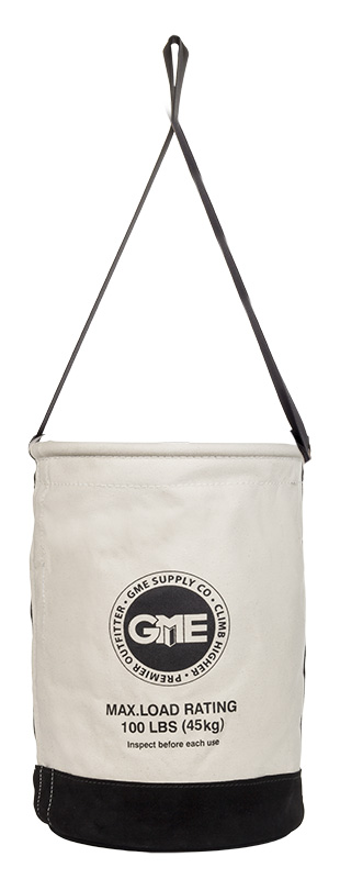 GME Supply 100 lb Leather Bottom Canvas Bucket