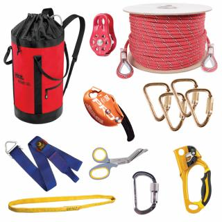 GME Supply 9127 1/2 Inch Rope Tower Z Rig Rescue Kit
