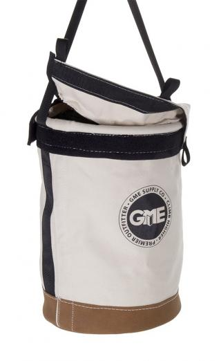 GME Supply 100 lb Leather Bottom Canvas Bucket with Connection Points