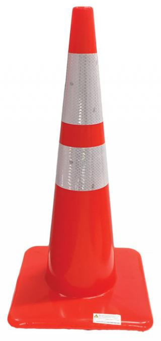28 in. x 7 lbs. Reflective Traffic Cones