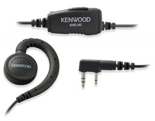Kenwood C-Ring Ear Hanger with In-Line Push-to-Talk Mic