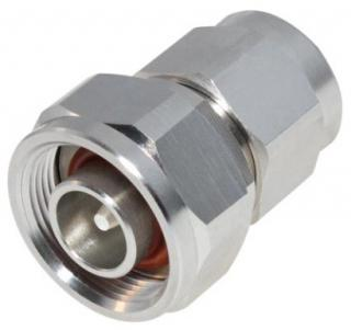 RF Industries Low PIM N Male to 4.1/9.5 (Mini) DIN Male Adapter