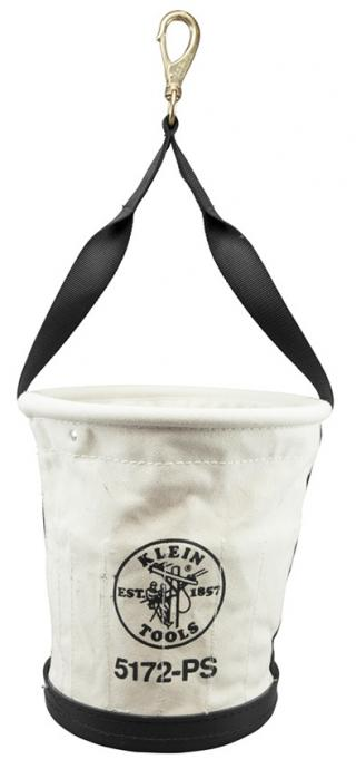 Klein Tools 5172PS Tapered Wall Bucket with 15 Inside Pockets