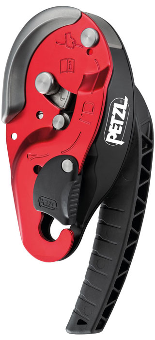 Petzl I'D L Self-Braking Descender (Red)